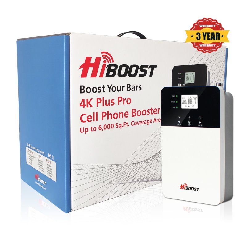 HiBoost 4K PLUS PRO Cell Phone Signal Booster-Package