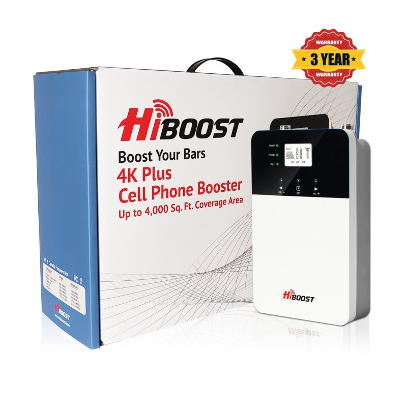 HiBoost 4K PLUS Cell Phone Signal Booster-Package