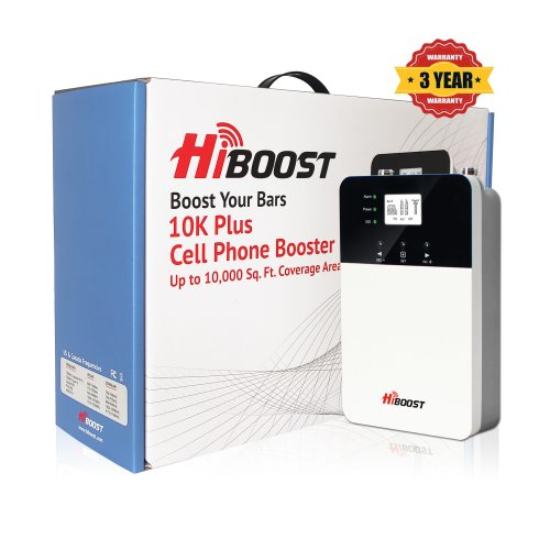HiBoost 10K PLUS Cell Phone Signal Booster-Package