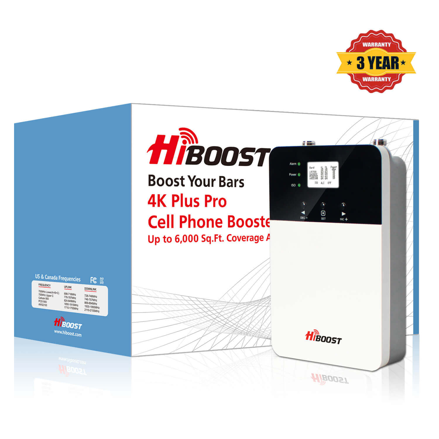 HiBoost 4K Plus Pro Cell Phone Singal Booster-package