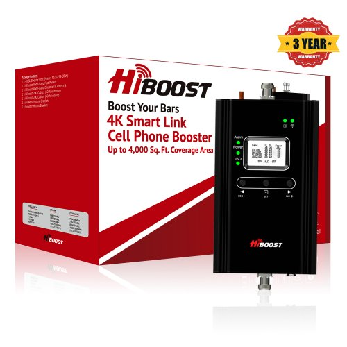 HiBoost 4K SmartLink Cell Phone Signal Booster