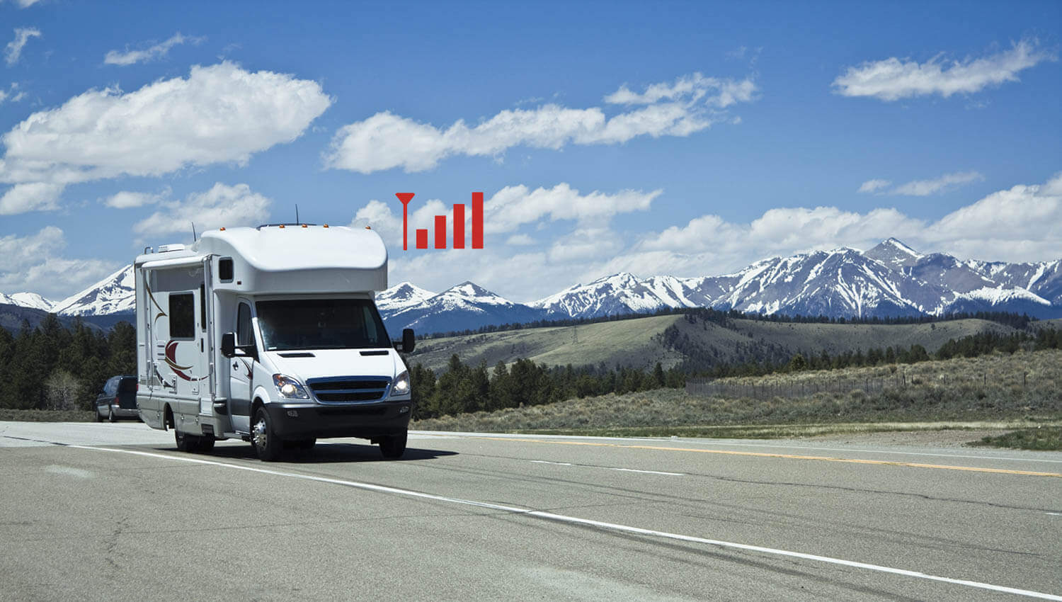 HiBoost Cell phone signal booster for RV-On the road