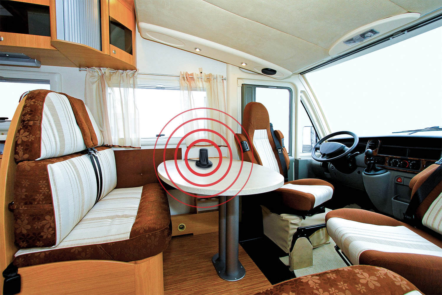 HiBoost Cell phone signal booster for RV-indoor antenna