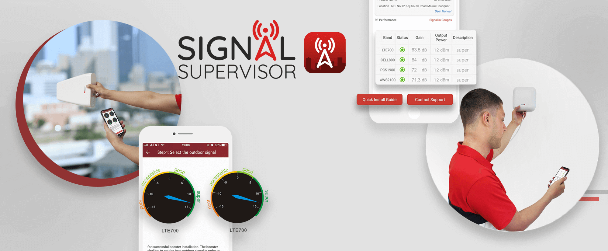 HiBoost Cell Phone Signal Booster-Signal Supervisor