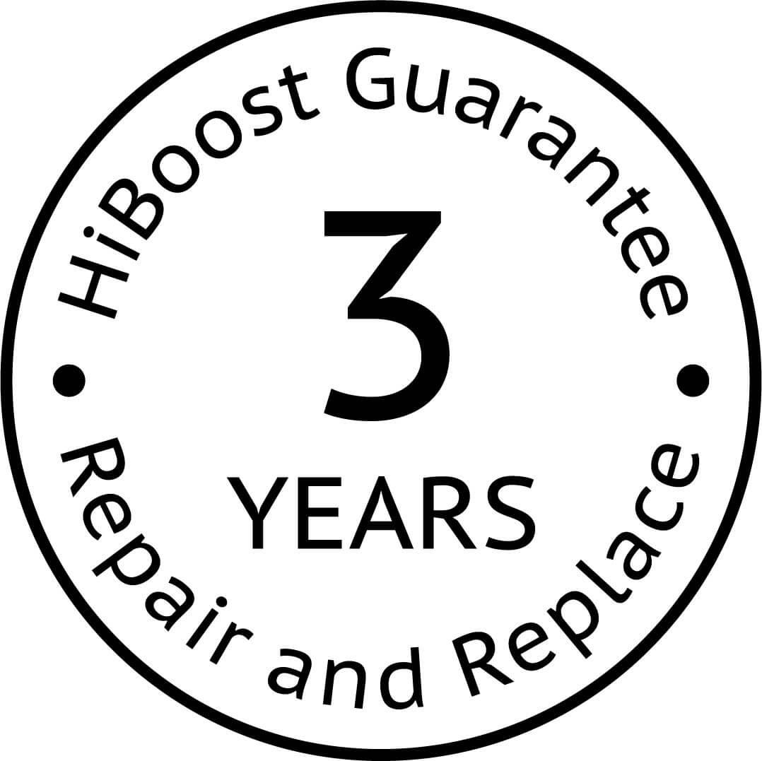 HiBoost 3 Year Guarantee Logo