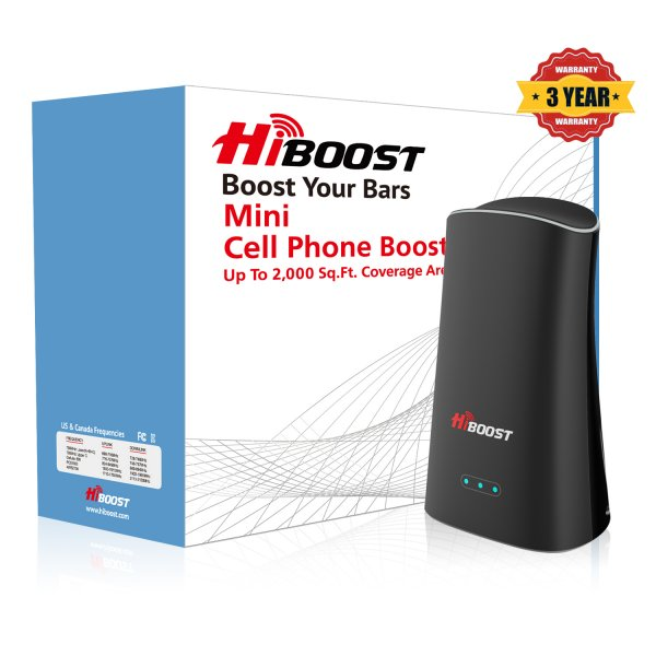 HiBoost Mini cell phone signal booster-package