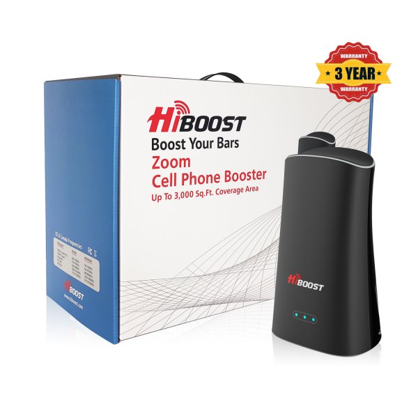 HiBoost ZOOM Cell Phone Signal Booster-Package