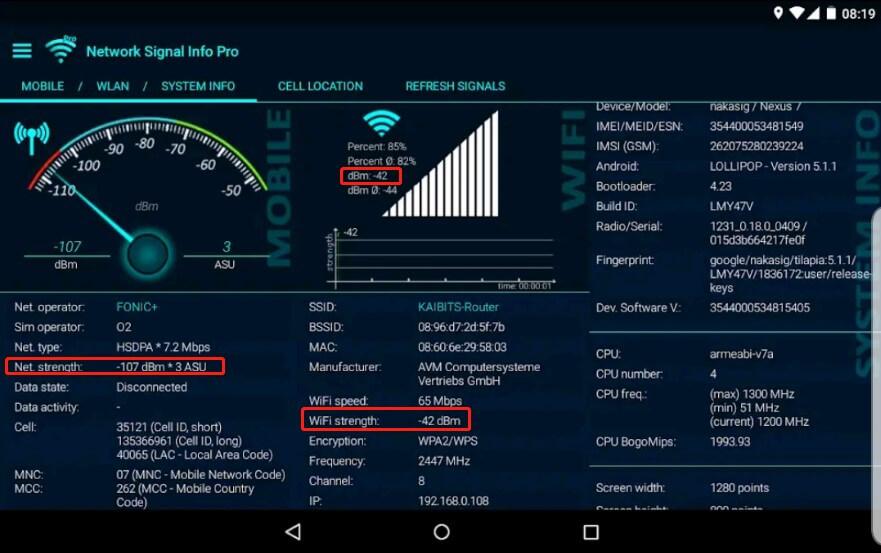 Network Signal Info Pro-4